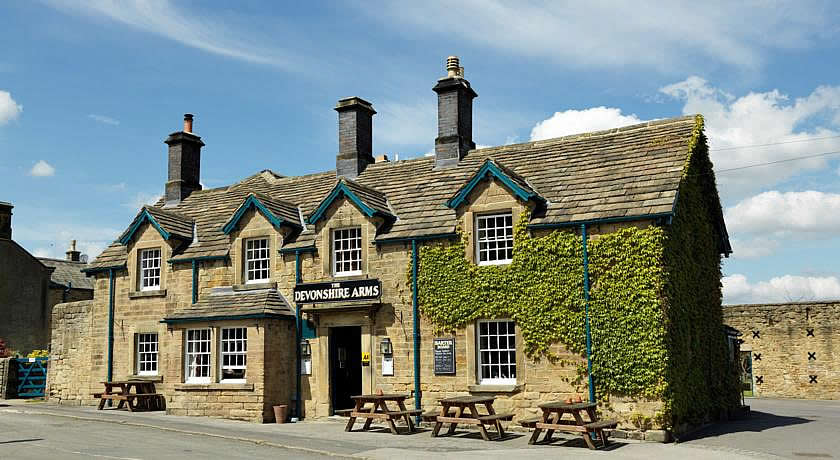 Pubs with Rooms in Derbyshire - Devonshire Arms at Pilsley