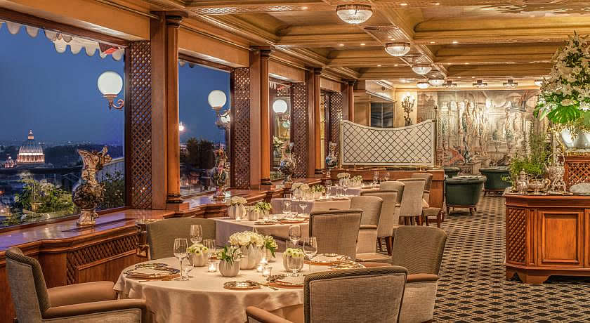 Michelin 3 Star Restaurants in Italy - La Pergola at Rome Cavalieri Waldorf Astoria